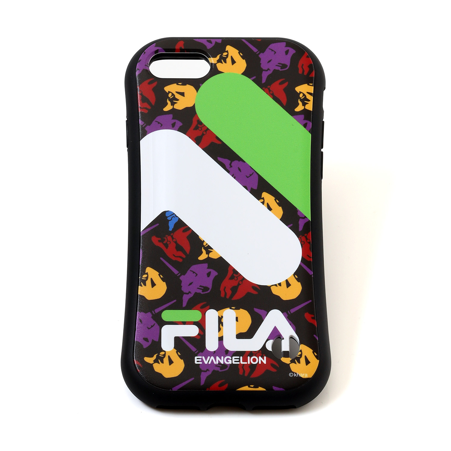FILA × EVANGELION iPhone 12/12pro CASE (MONOGRAM(BLACK))