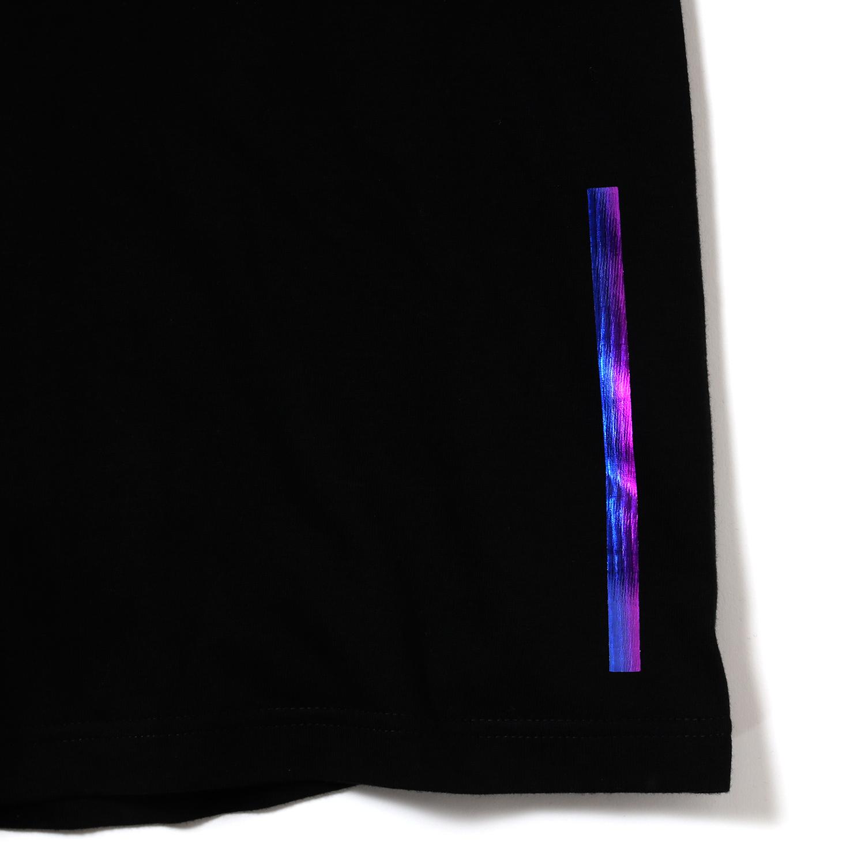 EVANGELION Solid Line Logo T-Shirt (BLACK×RAINBOW)