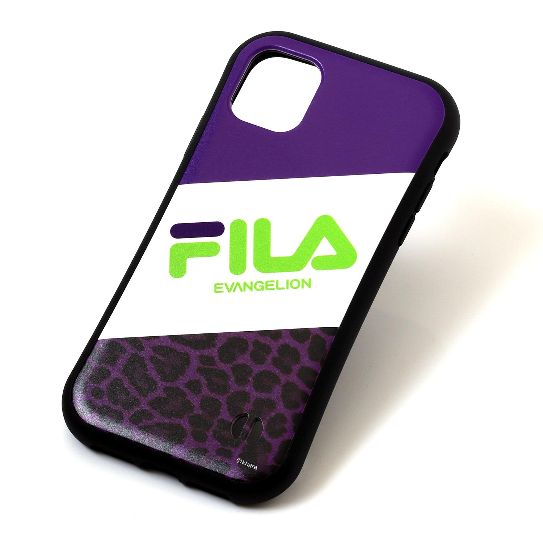 FILA × EVANGELION iPhone 11 CASE (LEOPARD(PURPLE))