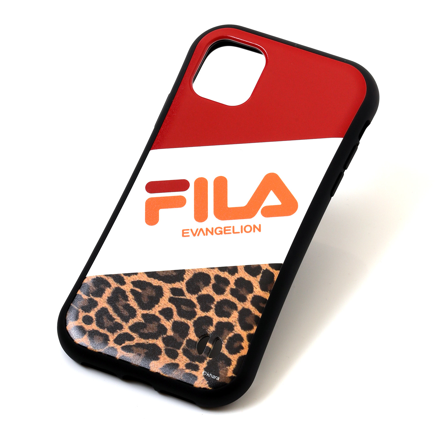 FILA × EVANGELION iPhone 11 CASE (LEOPARD(RED))