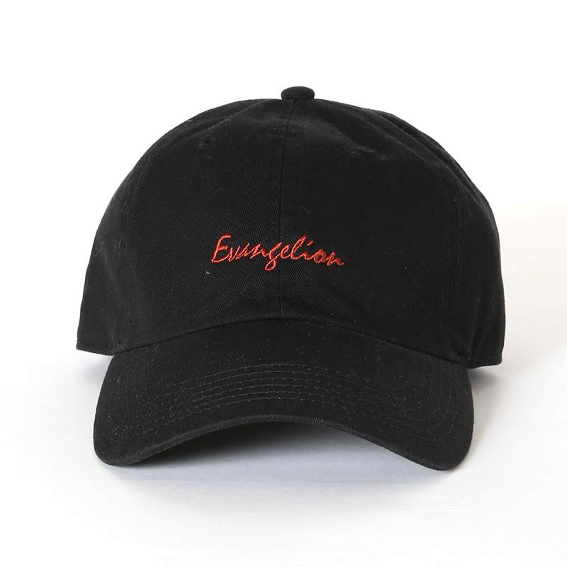 EVANGELION Cotton Washed Cap (ブラック)