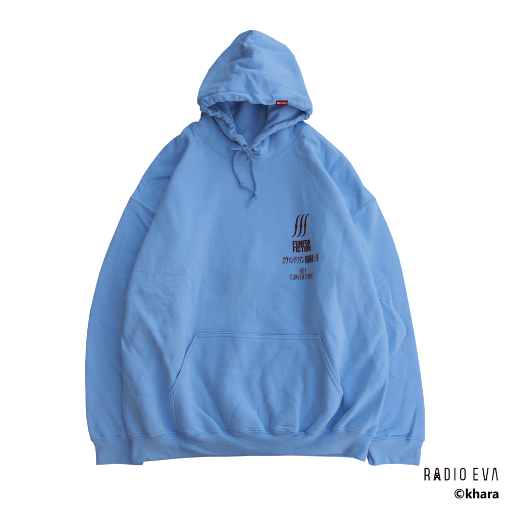 Ayanami (Why don't you just try smiling?) PULL PARKA (LIGHT BLUE)