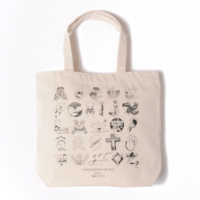 TYPOGRAPHY OF EVA index Tote Bag (ナチュラル)