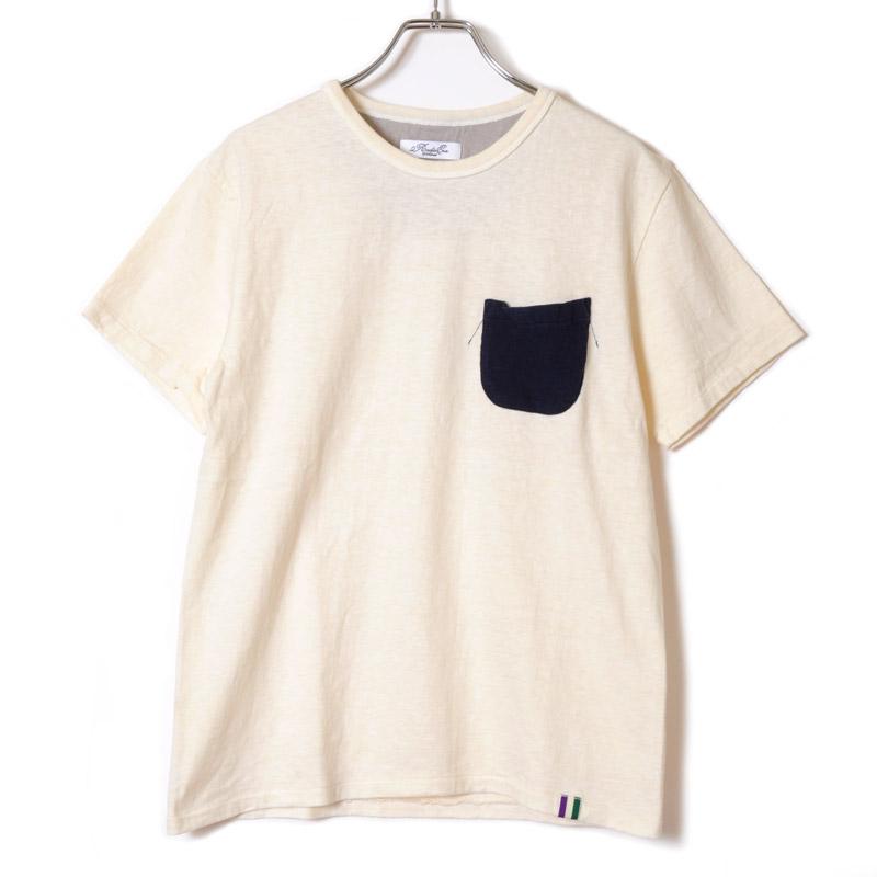 LOOPWHEEL EVA POCKET T-shirt (ネイビー×グレー)