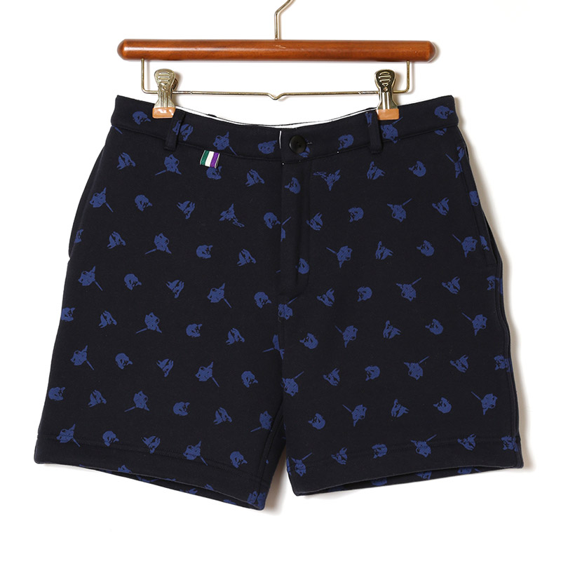 E.Monogram Sweat Shorts (ネイビー)