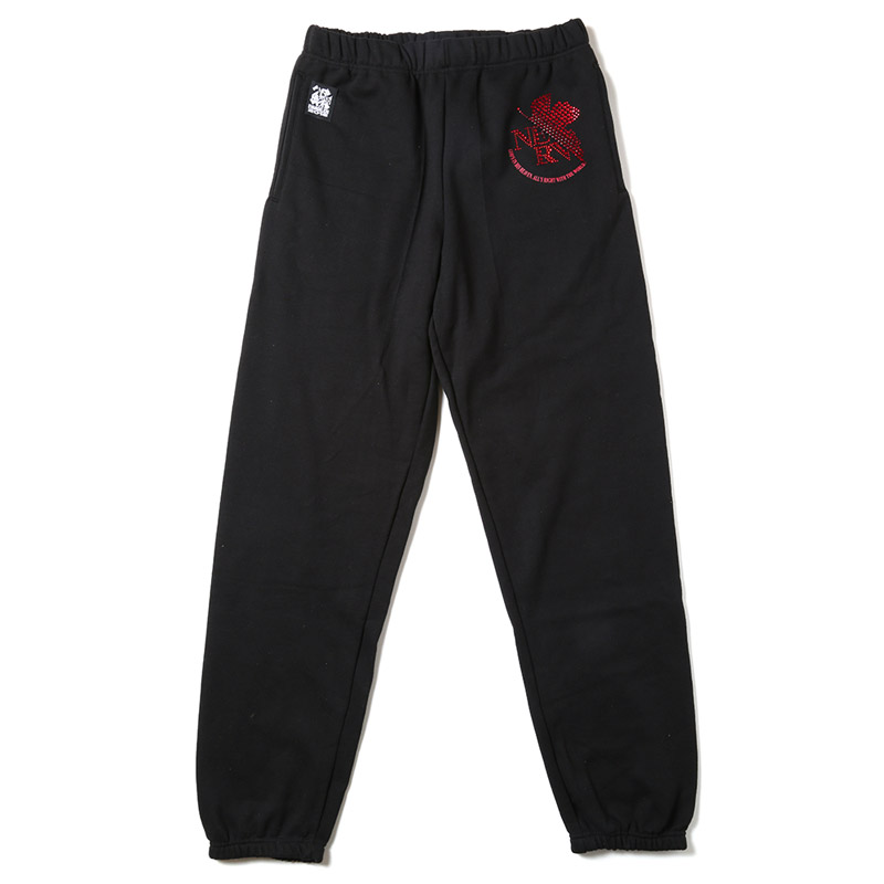 EVA Rhinestone Sweat Pants (ブラック(NERV))