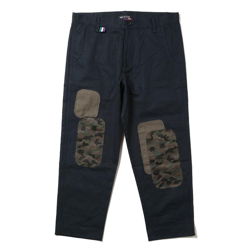 EVA Patchwork Pants (ネイビー)