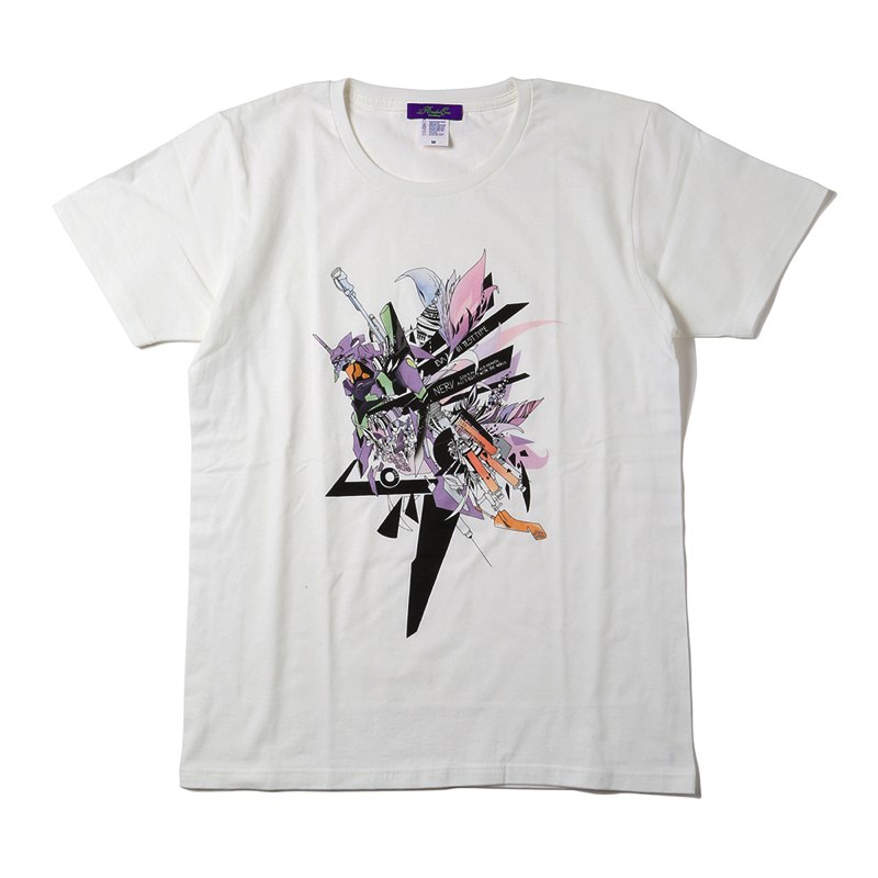 Abstract EVANGELION T-Shirt(KENTA KAKIKAWA)  初号機(ホワイト)