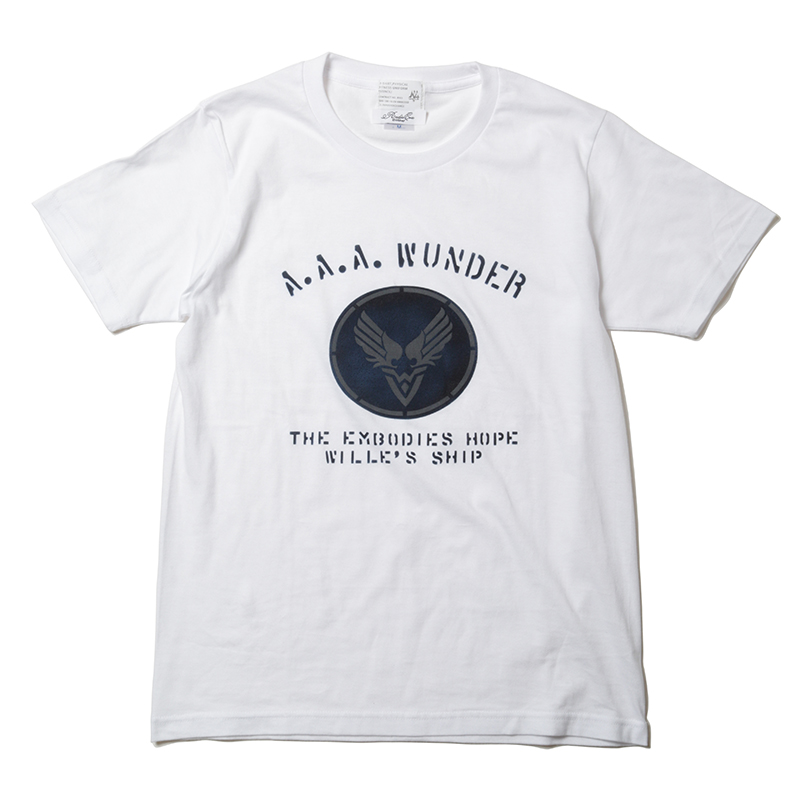WILLE STENCIL T-Shirt by KAMIKAZE (ホワイト)