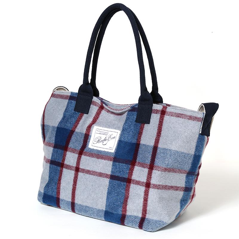 EVA Cardo Tote Bag (グレーチェック/渚カヲル)