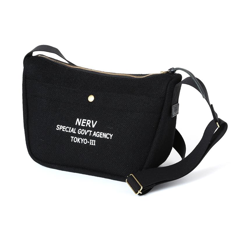 EVA × Harris Tweed Shoulder Bag (ブラック)