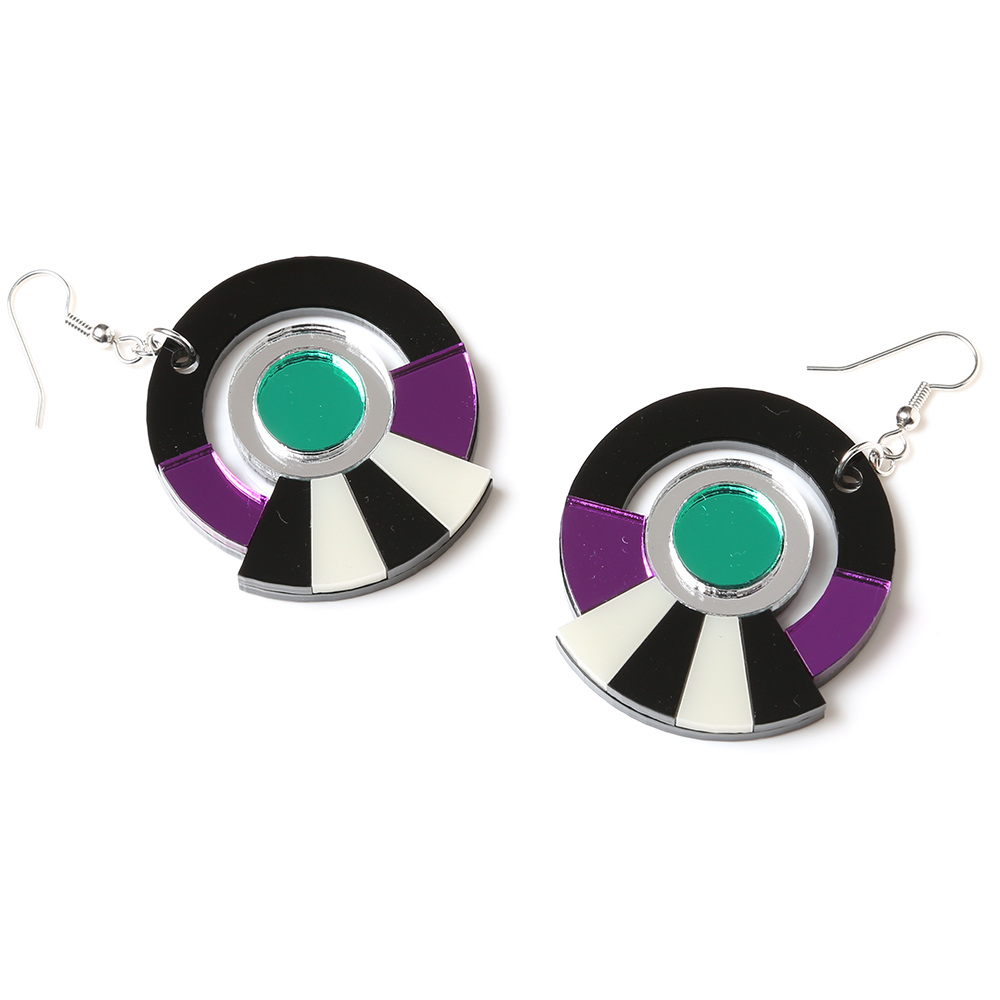 EVANGELION Acrylic Earrings 01 by MYSTIC FORMS (EVA-01(SHINJI))