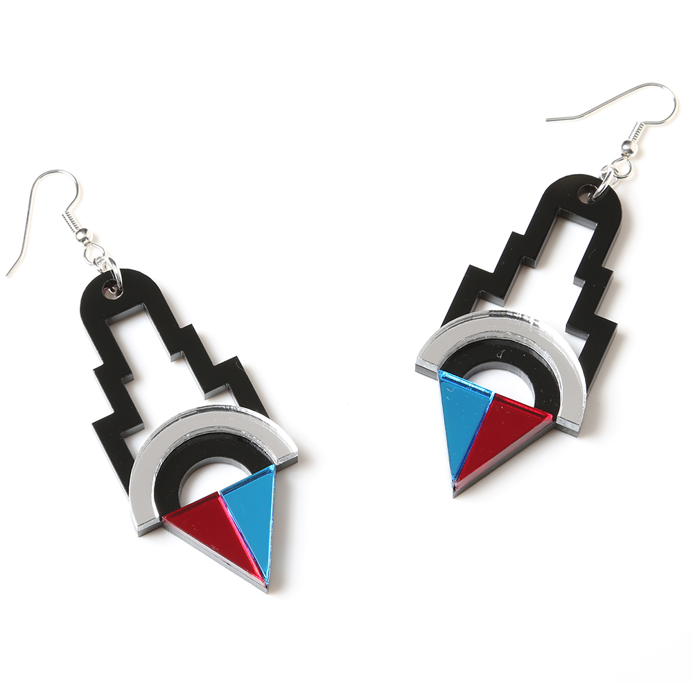 EVANGELION Acrylic Earrings 02 by MYSTIC FORMS (REI)