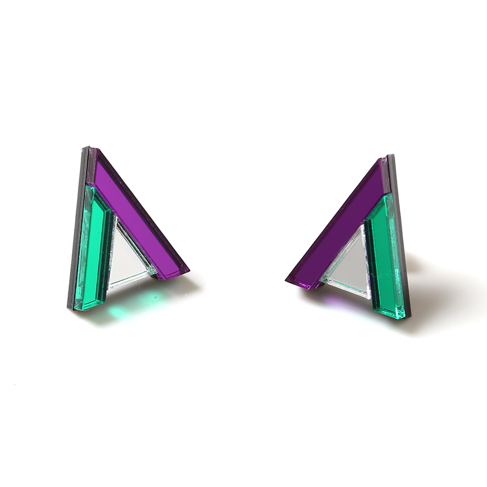 EVANGELION Acrylic Studs Earrings 01 by MYSTIC FORMS (EVA-01(SHINJI))