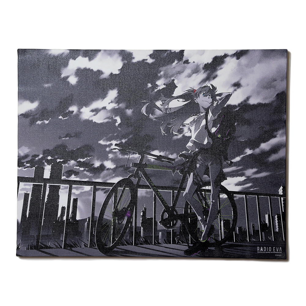 EVA Canvas Art (illustration) (アスカ(The bicycle))