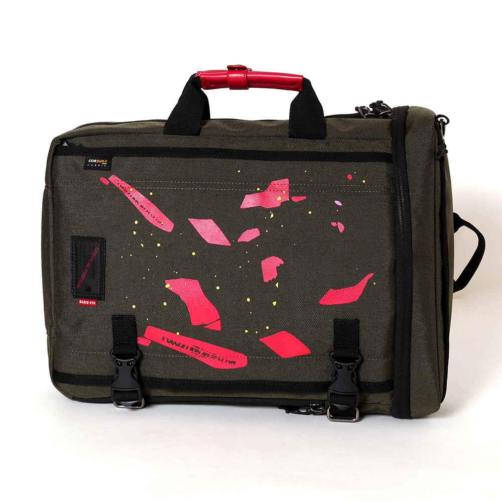 EVANGELION YAMIYO 3WAY BAG by FIRE FIRST (GREEN(初号機覚醒))