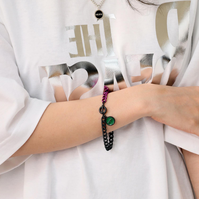 EVANGELION Charm Thin Bracelet (EVA-01)