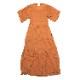 EVANGELION Cotton Crepe Dress (ORANGE)