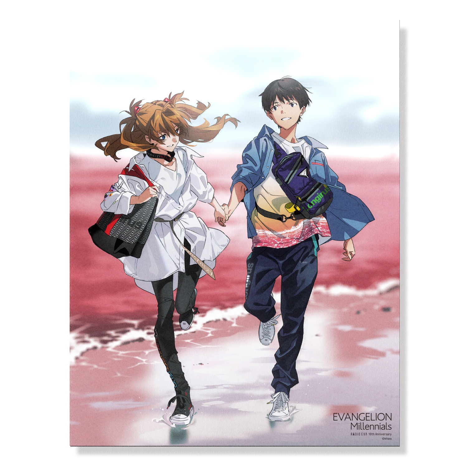 EVA Canvas Art (illustration)シンジ&アスカ(EVANGELION Millennials)