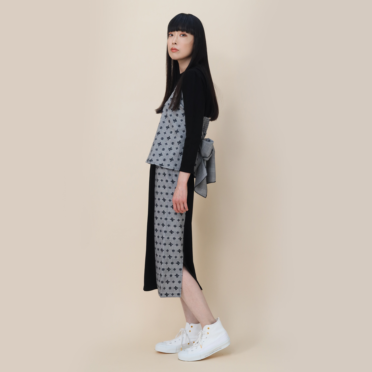 Check on EVA Monogram Skirt (BLACK)