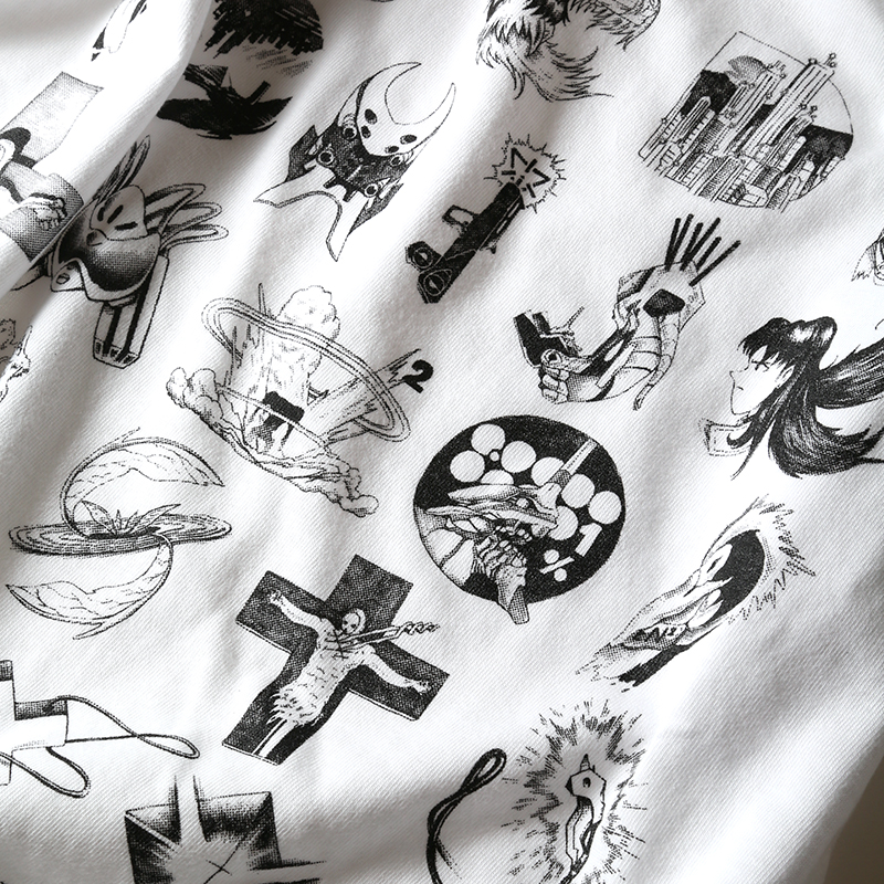 TYPOGRAPHY OF EVA index T-Shirt (ホワイト)