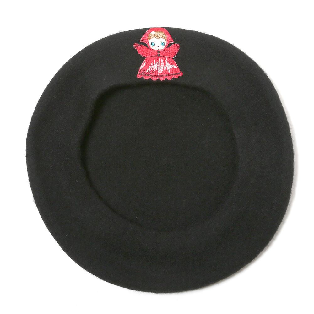 RADIO EVA Patch Beret (ブラック(パペット))