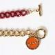 EVANGELION Charm Thin Bracelet (ASUKA)