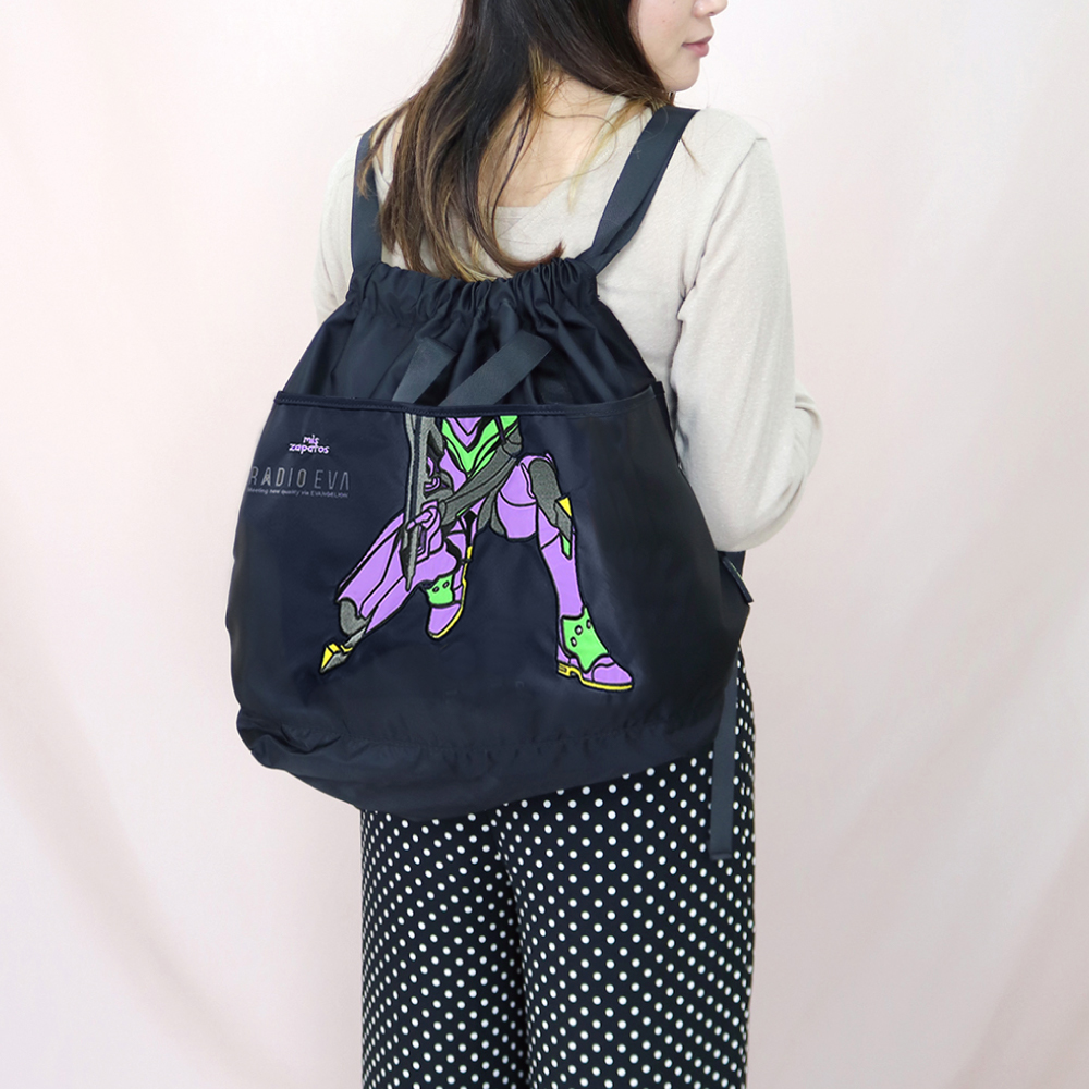 EVANGELION 2way Tote Ruck Sack by mis zapatos (BLACK(初号機))