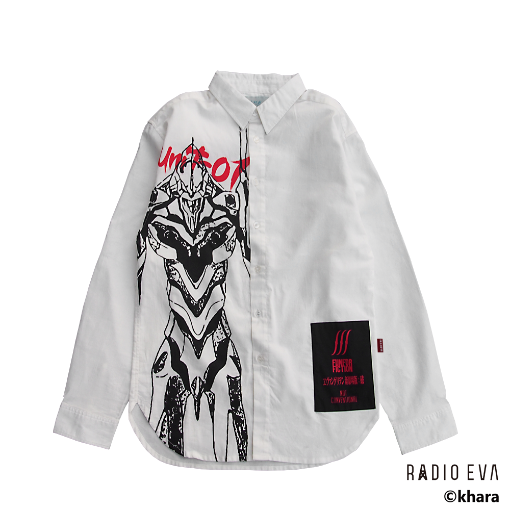 Unit-01 PRINT SHIRTS (WHITE)