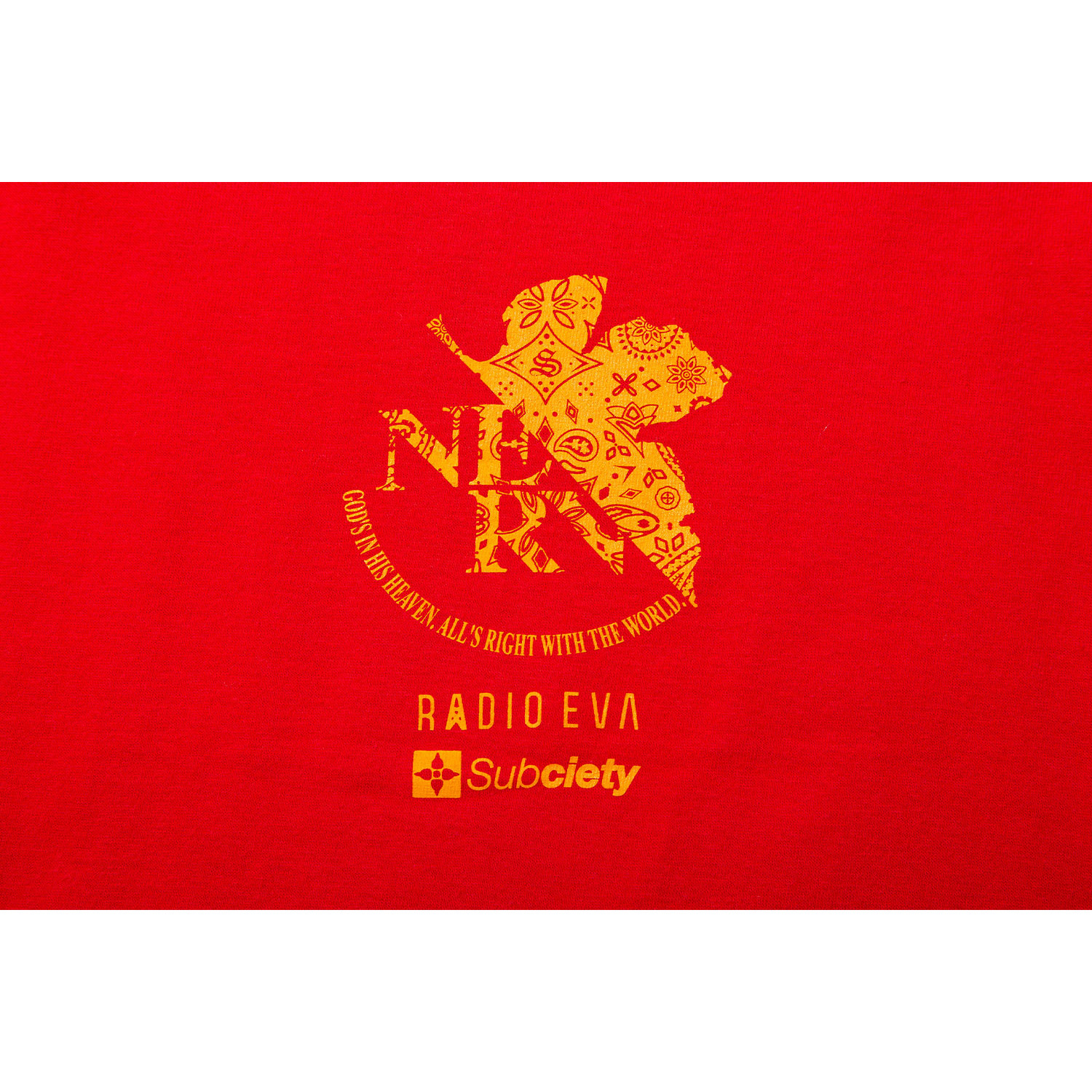DAMAGED RATIO S/S T-Shirt by Subciety (RED(2号機))
