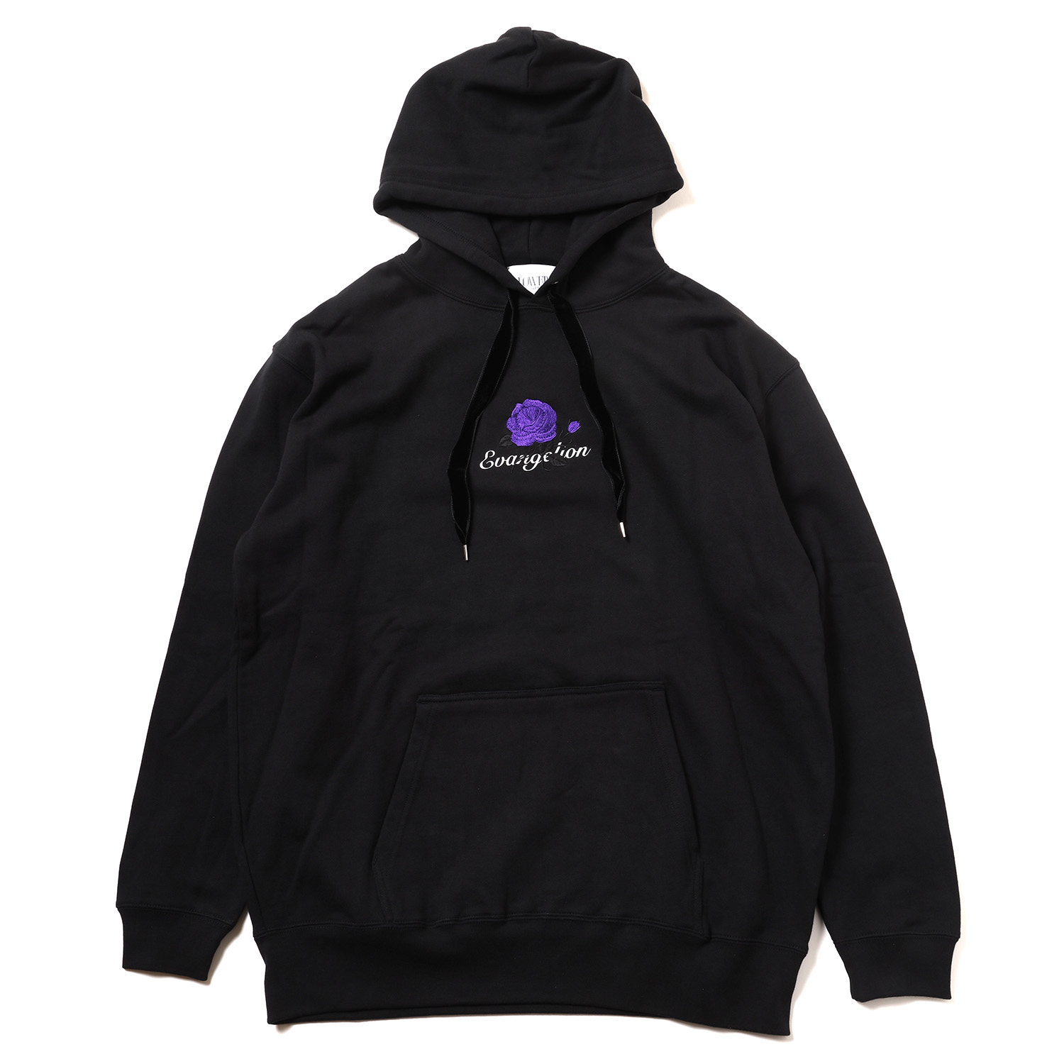 EVA-01 Flower Embroidery Parka (BLACK)