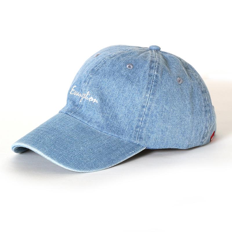EVANGELION Denim Washed Cap (ライトインディゴ)