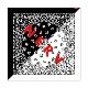 NERV SPLIT PAISLEYS BANDANA (ブラック×ホワイト)