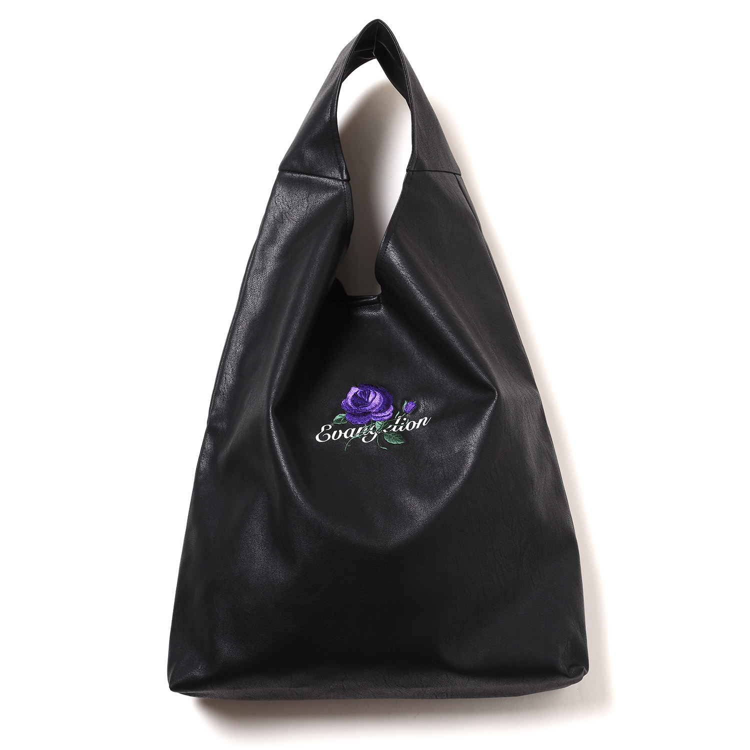 EVA-01 Flower Embroidery Tote Bag (BLACK)