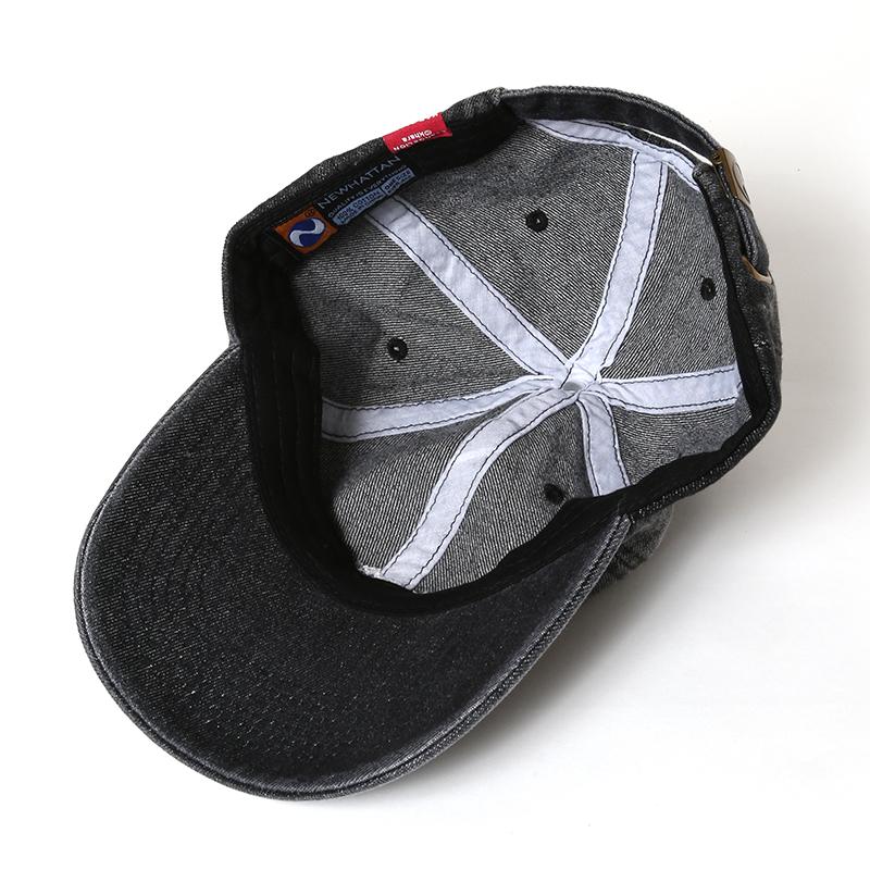 EVANGELION Denim Washed Cap (ブラックインディゴ)