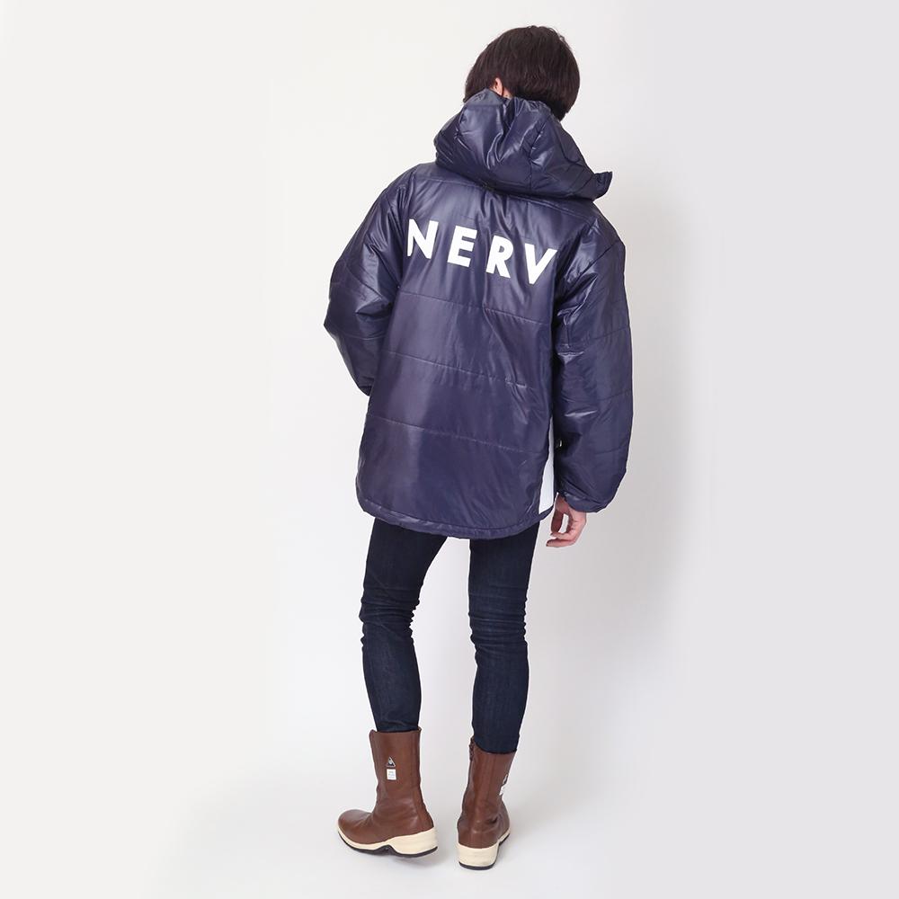 NERV LINE PUFF JACKET (ネイビー)