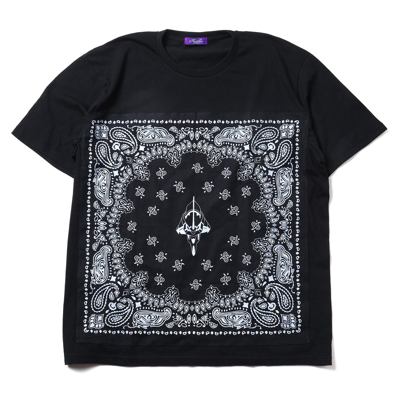 EVA-01 PAISLEYS BANDANNA T-Shirt (BLACK×BLACK)