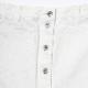 Button Fly Denim Skirt (WHITE)