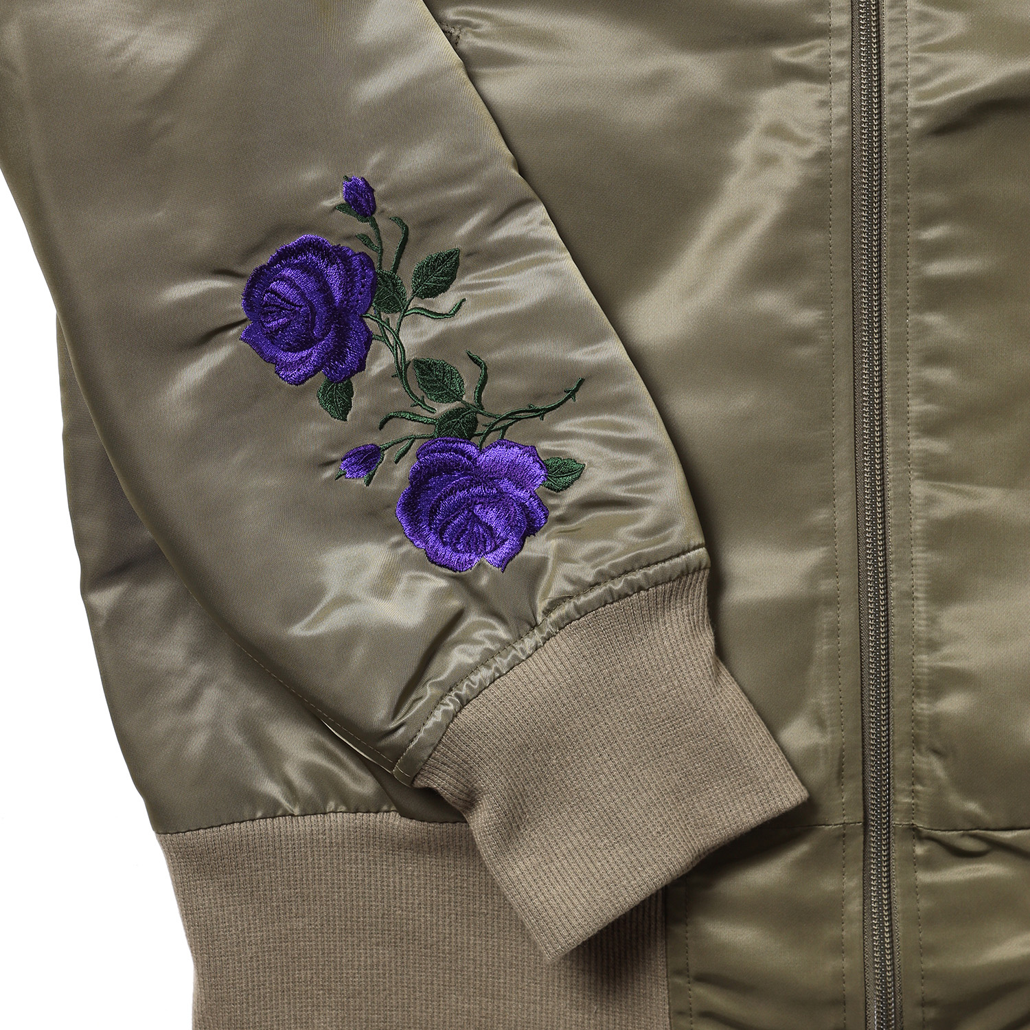 EVA-01 Flower Embroidery MA-1 (SAGE)