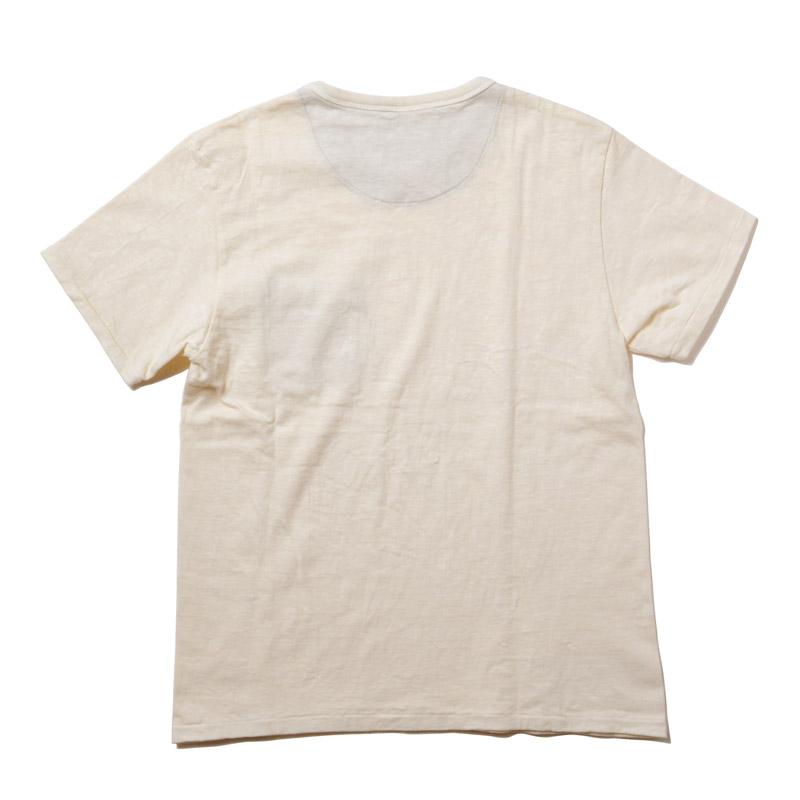 LOOPWHEEL EVA POCKET T-shirt (パープル×グリーン)
