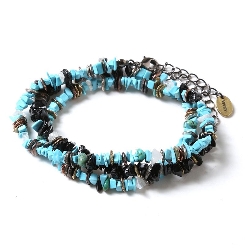 Pebble & Metal Chip's Beads Cord (VIVIFY) (ターコイズブルー(アヤナミレイ(仮称)))