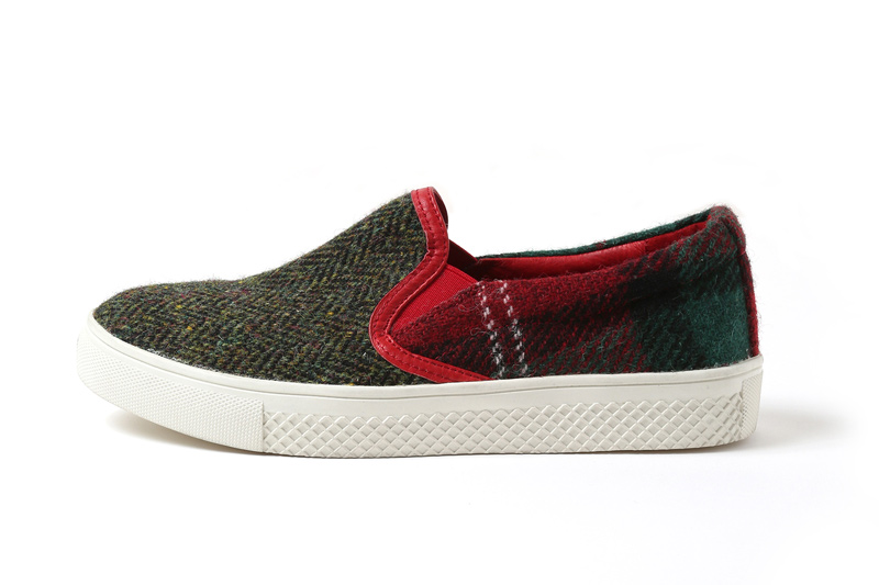 EVA × HarrisTweed Linkage SLIP-ON (レッド(アスカ))