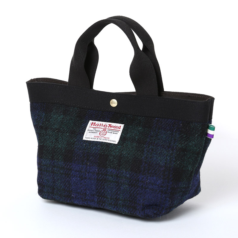 EVA × HarrisTweed MINI TOTE BAG (ブラックウォッチ)
