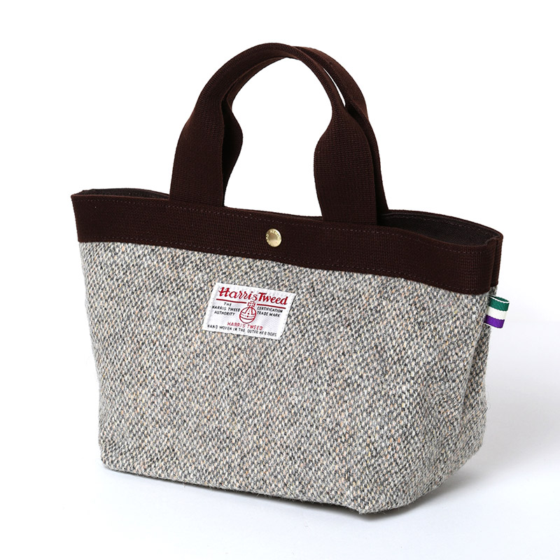EVA × HarrisTweed MINI TOTE BAG (グレー)