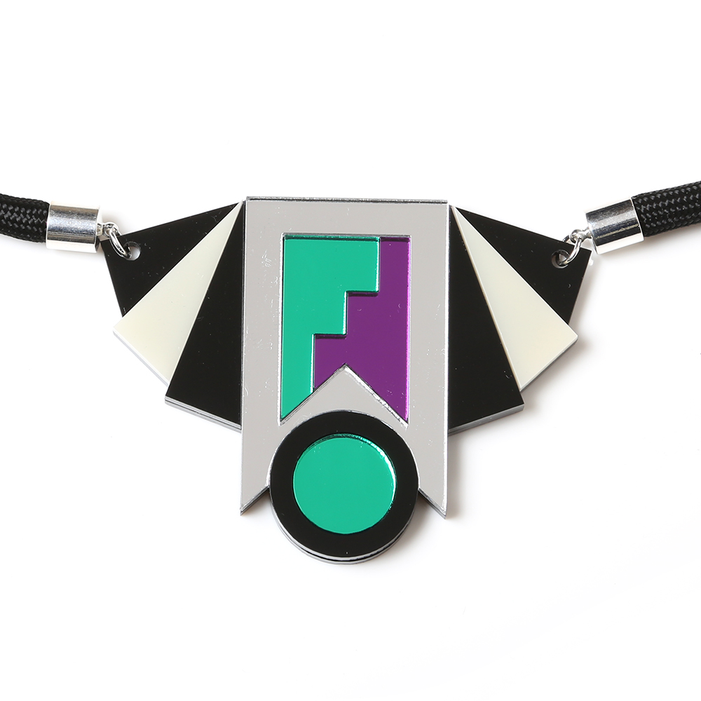 EVANGELION Acrylic Necklace by MYSTIC FORMS (EVA-01(SHINJI))