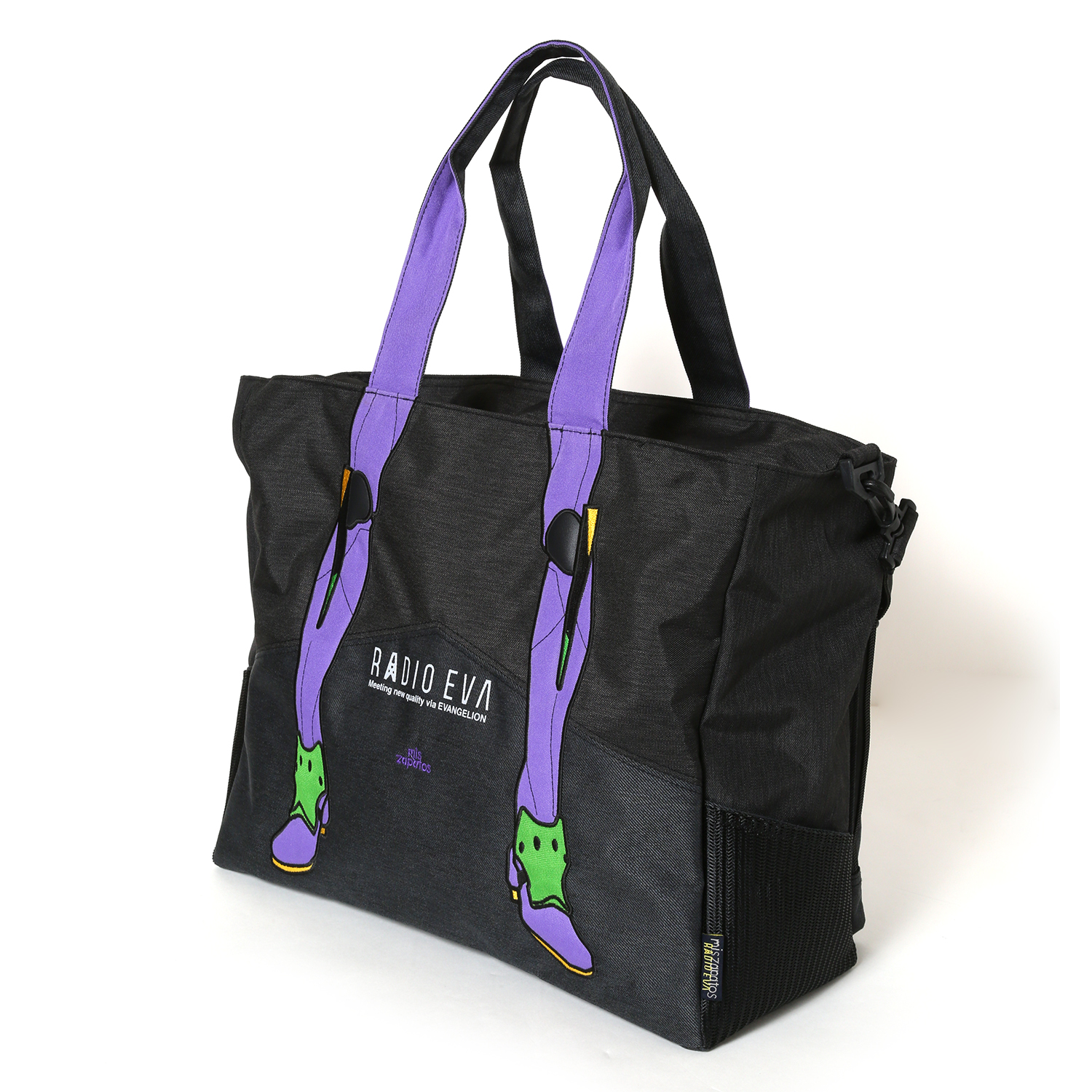EVANGELION Bicolor 2way Tote by mis zapatos (ブラック(初号機))