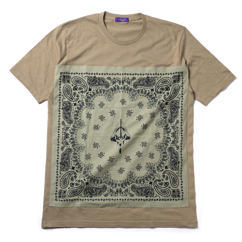 EVA-01 PAISLEYS BANDANNA T-Shirt (SAND KHAKI×BEIGE)