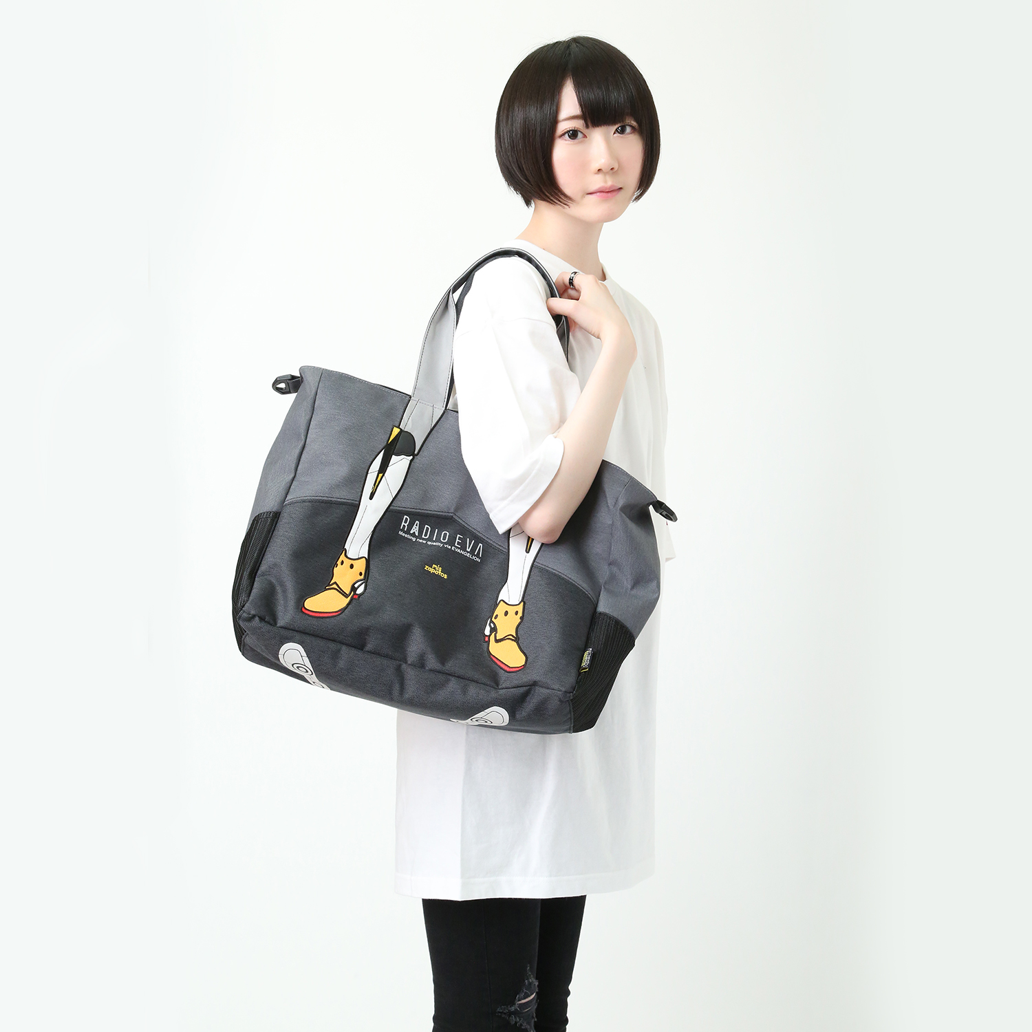 EVANGELION Bicolor 2way Tote by mis zapatos (グレー(零号機))