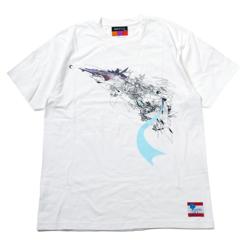 NADIA ν-NAUTILUS T-Shirt by KENTA KAKIKAWA (WHITE)