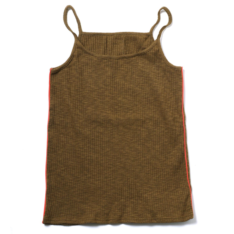 EVANGELION Rib Knit Camisole (KHAKI(WILLE))